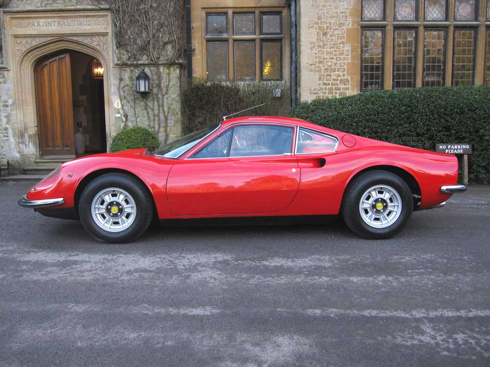 1972 Dino Ferrari 246 GT-in the showroom