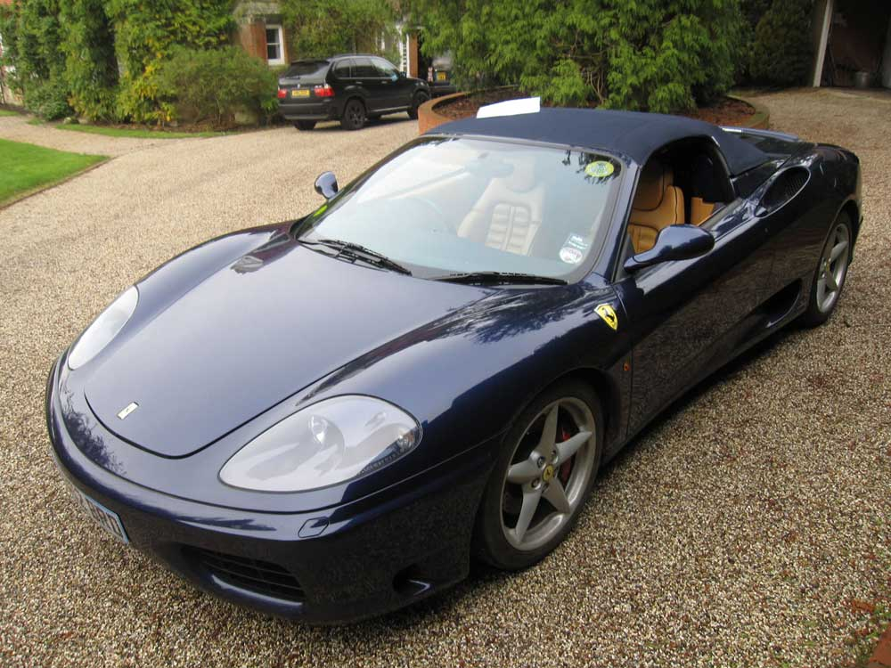 2001 Ferrari 360 Spider-six speed manual