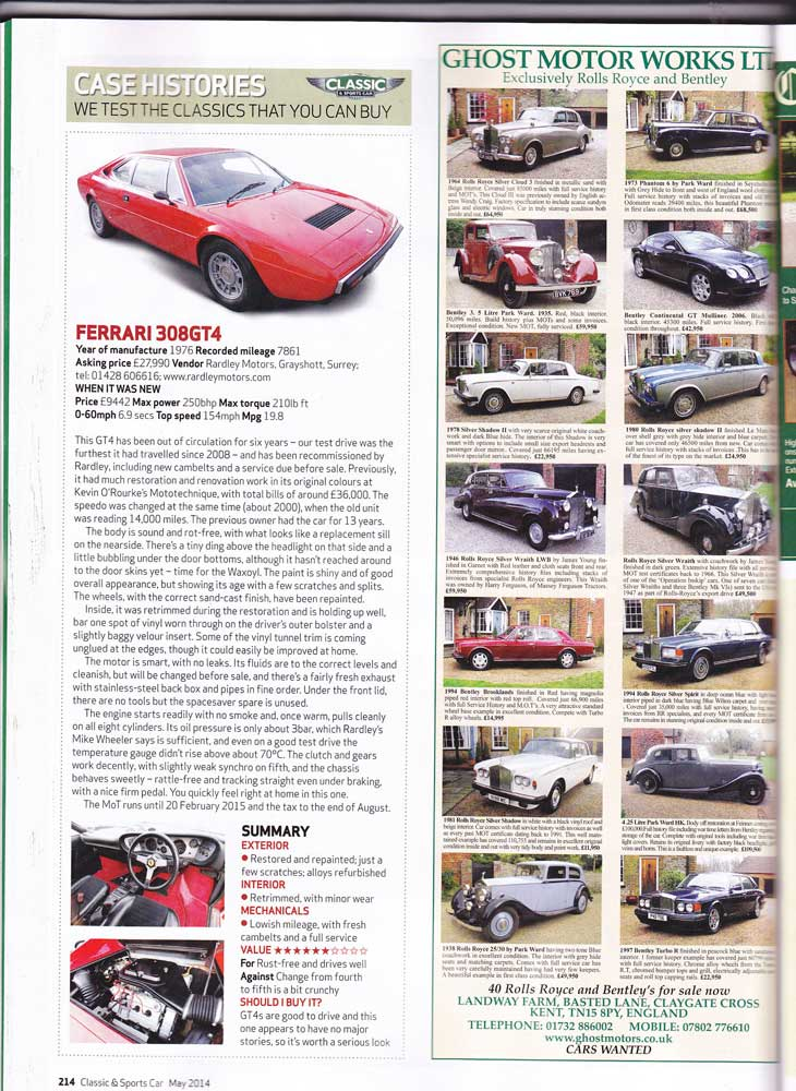 Classic and Sportscar May 2014