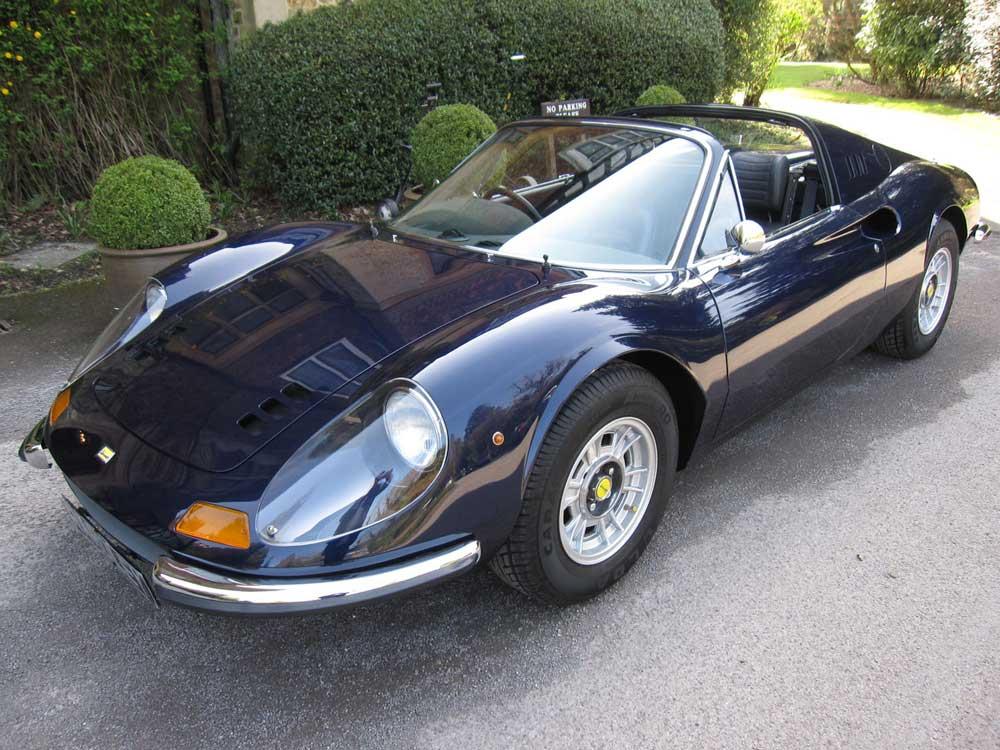1972 Dino Ferrari 246 GTS-4,000 miles since restoration.