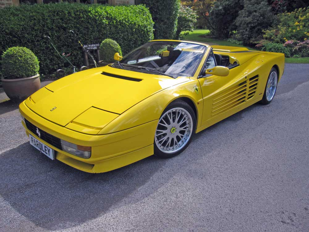 1986-87model year-Ferrari Testarossa Spider-Left hand drive