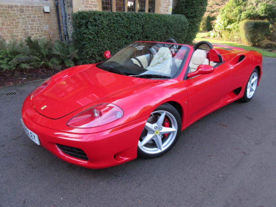 2004 Ferrari 360 Spider manual with 27,000 miles