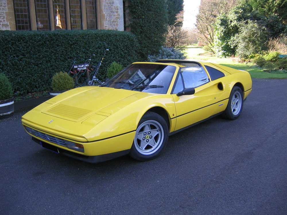 1986 Ferrari 328 GTS. One of only two in yellow