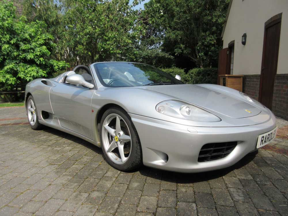 2001 Ferrari 360 spider Six speed manual