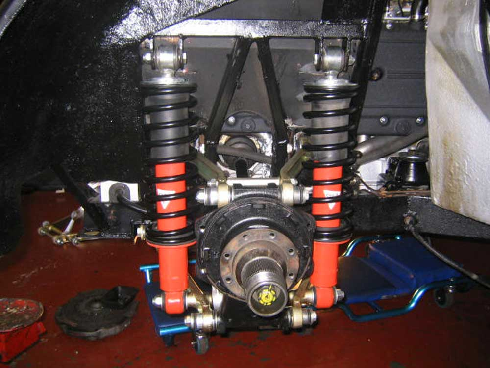 512 BB suspension,first corner completed