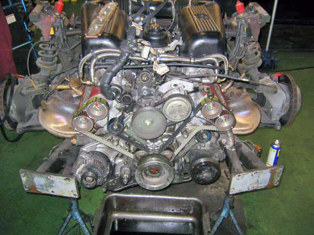 Our 1999 355 GTS cam belt service