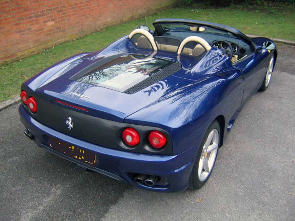 2002 Ferrari 360 Spider 6-speed manual