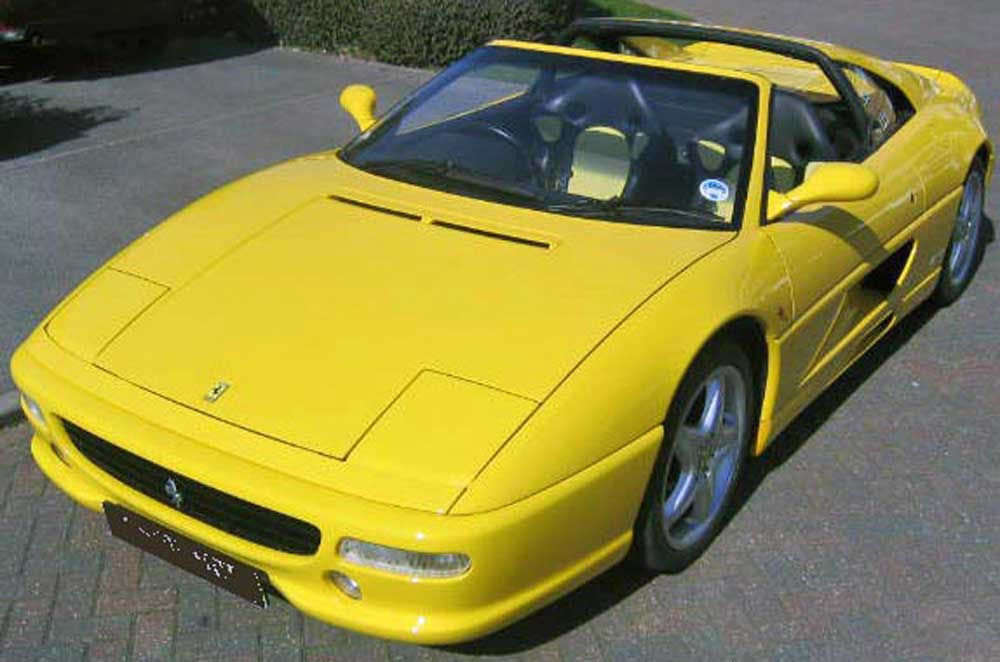1998 355 GTS F1 in Giallo with factory sports seats