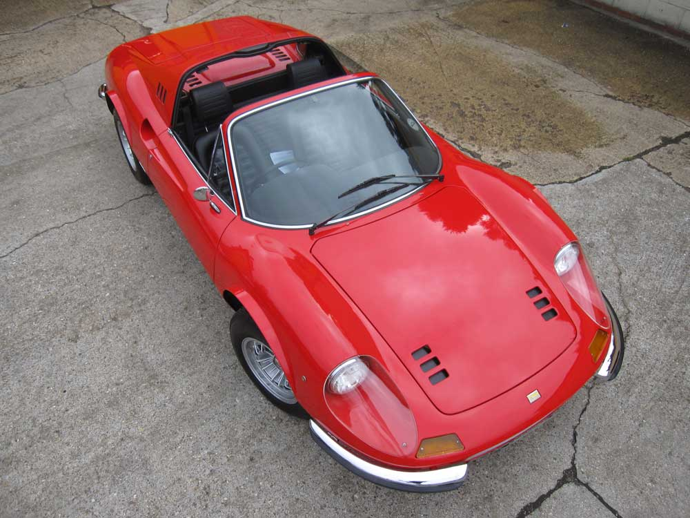 "SOLD-Another required 1974 Ferrari 246 GTS with factory 7.5"" wheels ,flared arches and ""Daytona"" style seats."