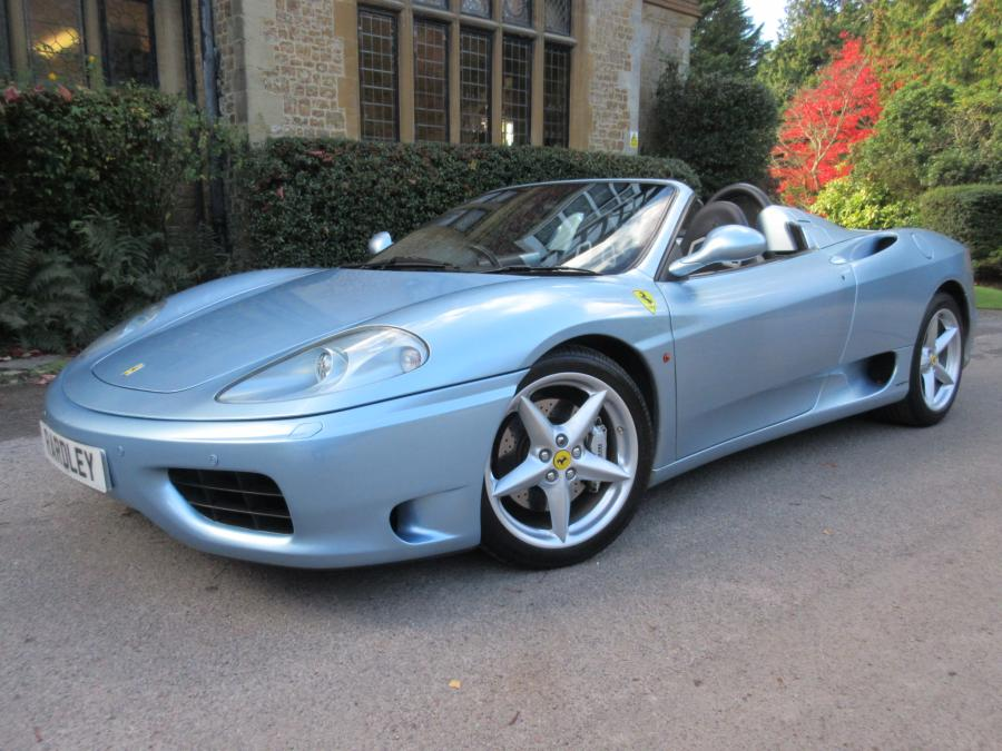 Ferrari 360 F1 spider with sports seats and just three owners