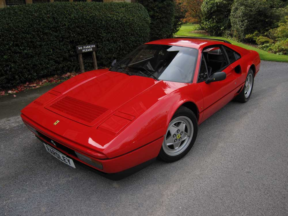 1988 Ferrari GTB Turbo-one of 308 cars made.
