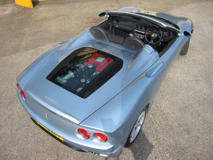 2002 Ferrari 360 F1 spider with sports seats.
