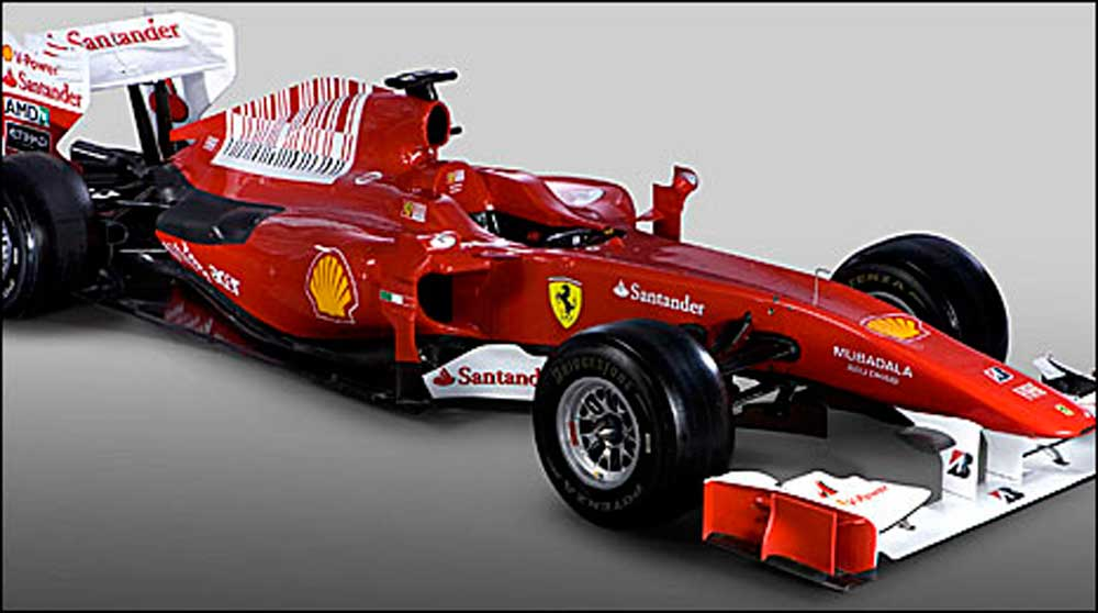 2010 season Ferrari F1 breaks cover