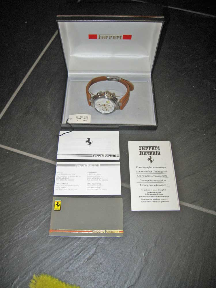 1980's Ferrari Formula Chronograph watch