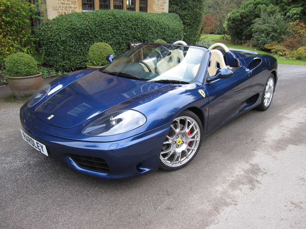 2002 Ferrari 360 Spider Six speed manual