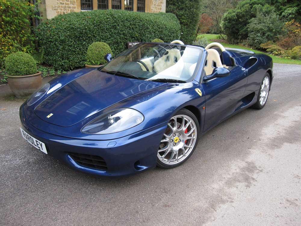 2002 Ferrari 360 Spider Six speed manual