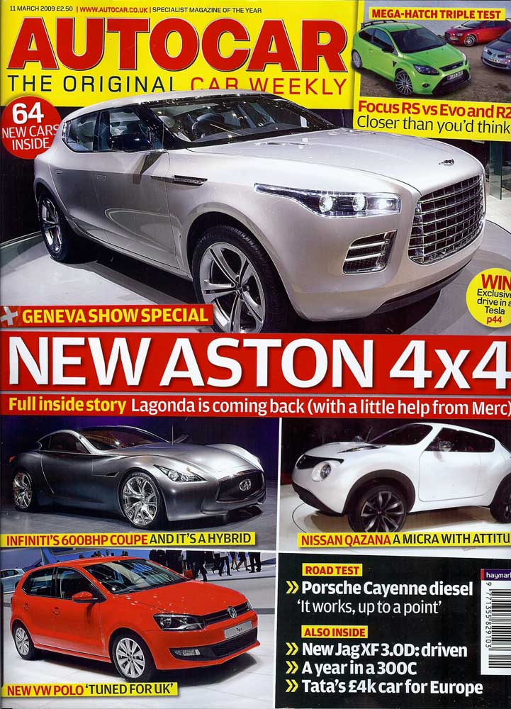 This weeks Autocar features an article on 456...