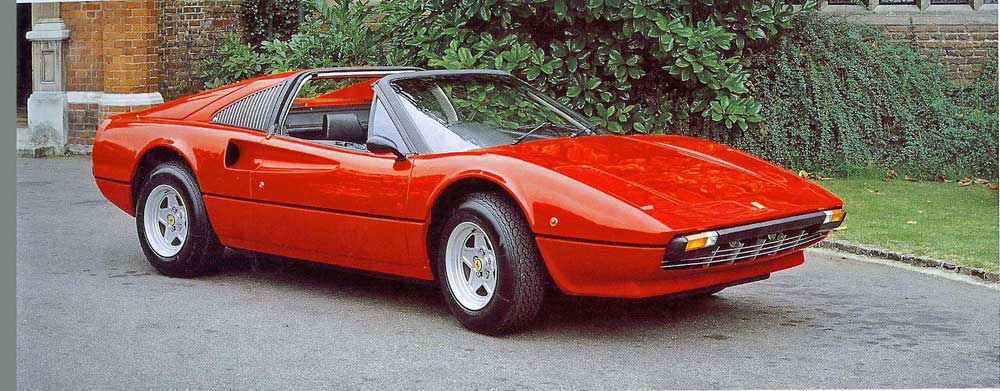 1980 Ferrari 308 GTS with 10,500 recorded miles